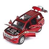 ZHWDD Désert Hors Route du véhicule en Alliage modèle de Voiture 01:32 modèle de Voiture 6 Open Door SUV Collection Ornements Décoration, 16cm * 6.5cm * 6cm (Couleur: Rouge) hefeide (Color : Red)