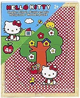 Speelgoedland B.V. Puzzle Madera Hello Kitty 4 PCS 12X15CM