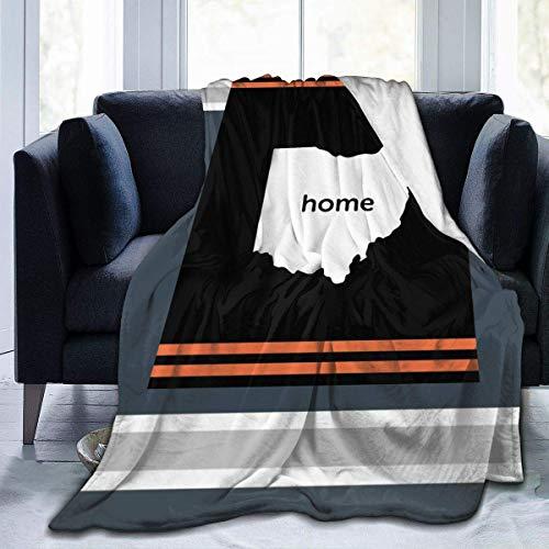 QUEMIN in Ohio State Flanell Fleece Decke Ultra Soft Cosy Warm Throw Leichte Decke Microfleece Decke für Zuhause, 50x40in