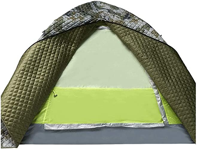 Mjd 3-4 Personnes Hiver Tente de Camping en Plein air Tente de Camping Chaud épais et Tente Froide