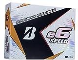 BRIDGESTONE GOLF e6 SPEED Golf Balls, White,...