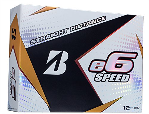 BRIDGESTONE GOLF e6 SPEED Golf Balls, White, High-Performance (Dozen Golf Balls)