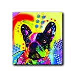 Enjoy it Pet Magnet, French Bulldog featuring the Pop Art of Dean Russo - Measures 2.5