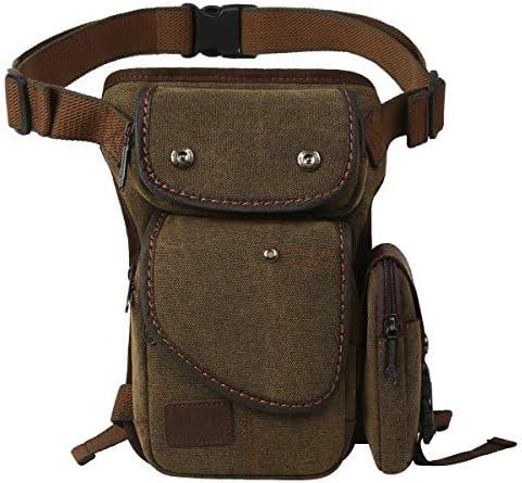 Eshow Men Canvas Drop Leg Bag Multi Functional Fashionable Nylon Leg Strap Bag for Mountaineering product image