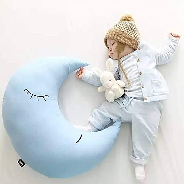BELUPAID Crescent Moon Pillow Cute Soft Moon Shape Stuffed Toy Cotton Throw Pillow Cushion Baby Bed Toys For Adults Kids