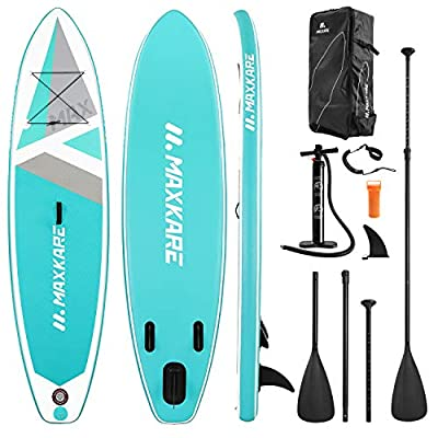 MaxKare SUP Inflatable Stand Up Paddle Board with 10'30''6'' Premium Paddleboard & Bi-Directional Pump & Backpack Portable for Youth Adult Have Fun in River, Oceans and Lakes