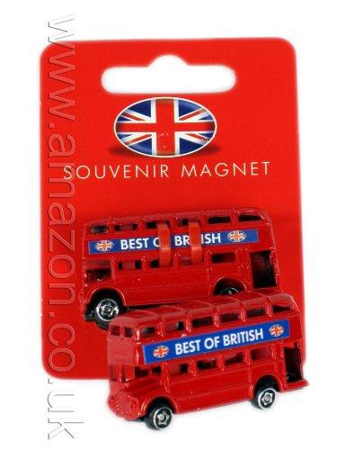 London-Geschenk / Souvenir Metalldruckguss Kühlschrank-Magnet - 3D Doppeldeckerbus