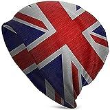 Tracray Gorro Beanie Unisex Bandera Británica Slouchy Thin Skull Cap Baggy Oversize Knit Hat