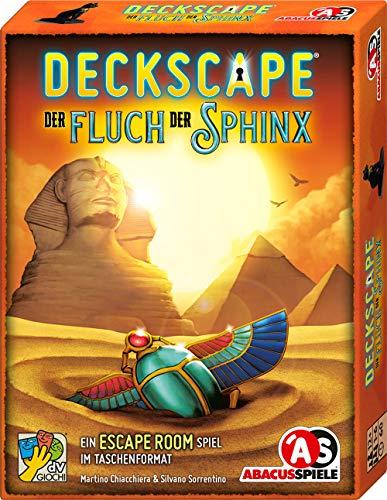 ABACUSSPIELE 38193 - Deckscape – Der Fluch Der Sphinx, Escape Room Spiel, Kartenspiel