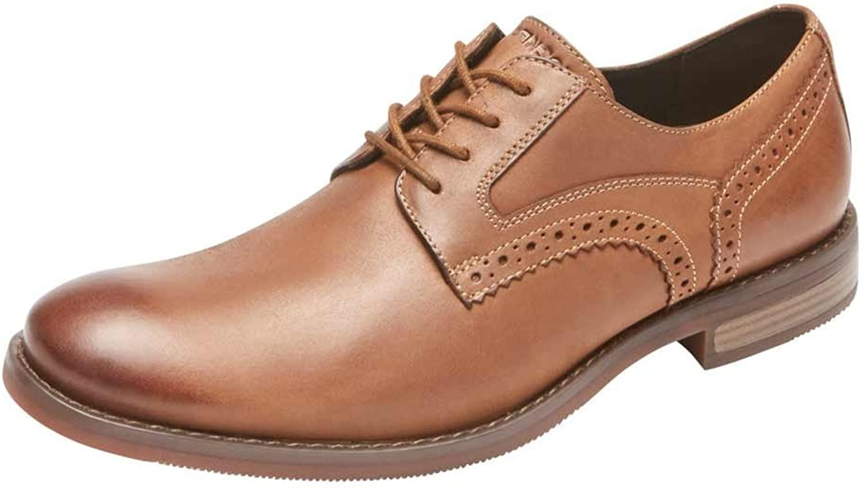 Rockport Men's Wyllis Plain Toe shoes, 8 D(M) US, Tobacco
