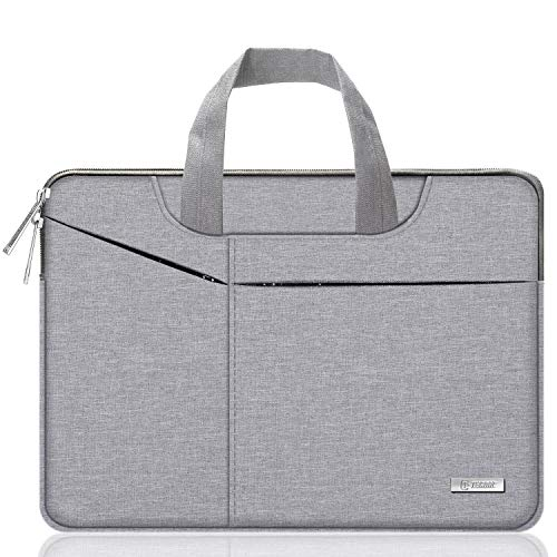 TECOOL 14 Zoll Laptoptasche Hülle, Wasserfest Schutzhülle mit Griff Aktentasche Tasche Sleeve Case für 14 Zoll Lenovo Dell HP ASUS Acer Notebook, Huawei MateBook D 14, Surface Laptop 3 - Grau