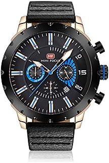 ساعة كوارتز للرجال من ميني فوكس، بعرض كرونوغراف وسوار من الجلد - طراز MF0079G.02