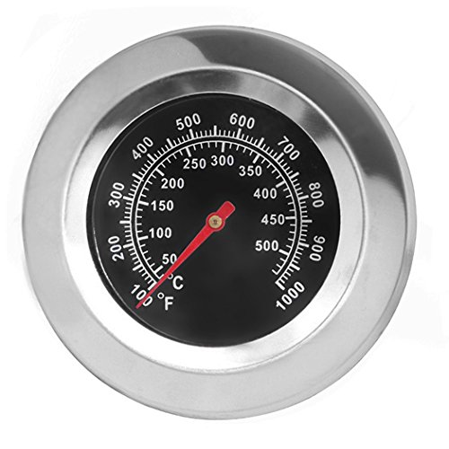 """DOZYANT 3"""" Stainless Steel BBQ Charcoal Grill Pit Wood Smoker High Temperature Gauge Thermometer Replacement for Gas Grill Models by Cuisinart, Master Forge and Others -100F to 1000F"""
