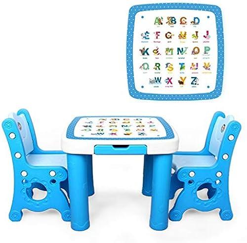 JH Kinder Studieren Tabelle Kinder Tisch und Stuhl gesetzt Spielzeug Spielzeug Schreibtisch Kunststoff Studie Tisch (Farbe   Rosa, Größe   A)