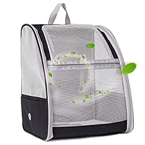 halinfer Pet Carrier Backpack for Cats and Small Puppy, Full Ventilation Cat Carrier Backpack, Airline Approved Cat Carrying Backpack for Travel and Hiking