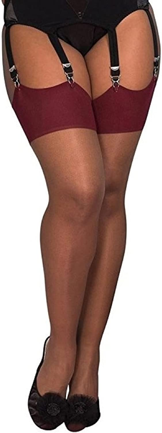 What Katie Did Seamed Stockings Nutmeg Claret Glamour