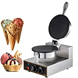 Happybuy Electric Ice Cream Cone Waffle Maker Machine 1200W Stainless Steel...