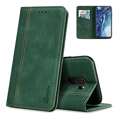 AKABEILA Hülle für Xiaomi Pocophone F1 Handyhülle Leder Flip Hülle Ständer PU Brieftasche Schutzhülle Klapphülle Tasche Hülle mit [Kartenfach] [Standfunktion] [Magnetisch]
