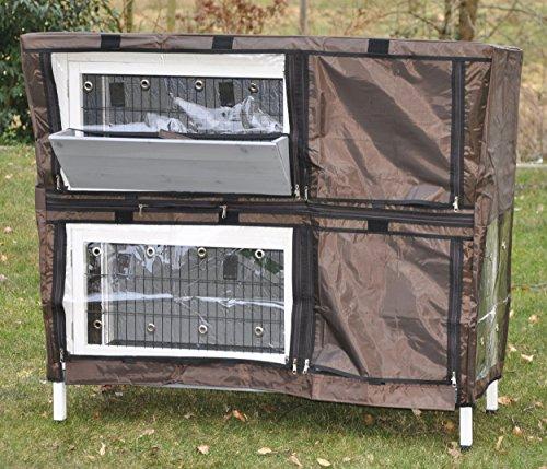 nanook Passgenaue Schutzhülle/Wetterschutzhülle für Kaninchenstall Serie Bunny - braun