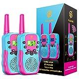 Dreamingbox Walki Talki Kinder ab 3-8 Jahre, Spielzeug ab 3 4 5 6 7 8 9 Jahre für Mädchen Geschenke für Mädchen Geburtstagsgeschenk für Mädchen 3-12 Jahre 3-12 Jährige Mädchen Geschenk Rot - Blau