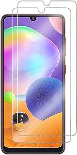 Wuzixi Samsung Galaxy A31 Screen Protector.HD transparent scratch-resistant tempered glass screen protector, Screen Protec...