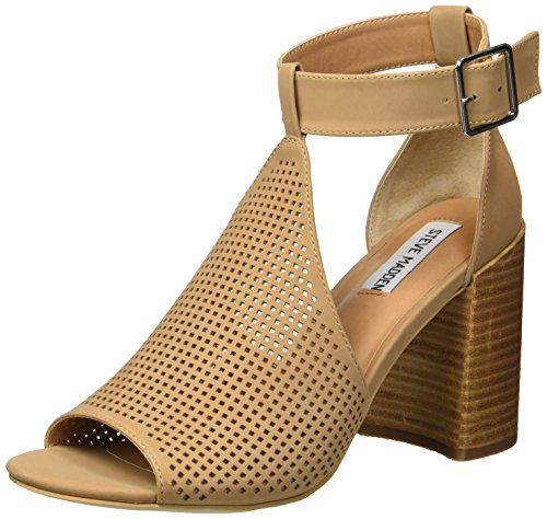Steve Madden Women's Sawyer Heeled Sandal, Tan Nubuck, 7.5 M US
