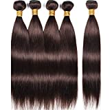 Synthetic Straight Hair 5 Bundles 300Gm Hair Weft High Temperature Hair Extensions Heat Resistant As Real Human Hair (#2)
