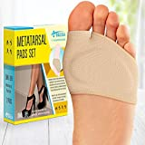 Ball of Foot Cushions (2 Pieces) - Metatarsal Pads | Forefoot Pads of of High Quality Soft Fabric - Foot Sleeve with Soft Gel Sole - Mortons Neuroma - Prevent Pain and Discomfort
