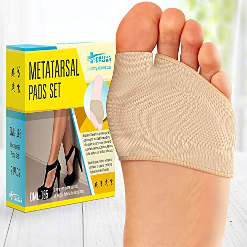 Ball of Foot Cushions (2 Pieces) - Metatarsal Pads | Forefoot Pads of...
