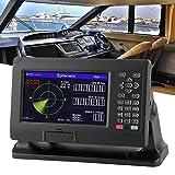 Sistema de navegación marina, Navegador marino BDS/GPS de 8 pulgadas con trazador de cartas de pantalla LCD TFT en color, Localizador de navegación GPS a prueba de agua, Soporte para C‑Map/XINUO‑MAP
