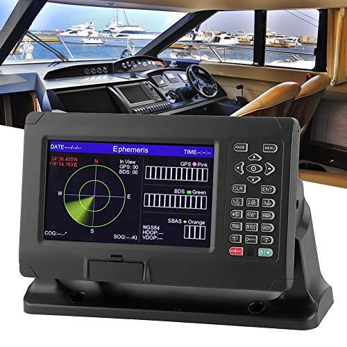 Marine Navigationssystem, 8 Zoll Marine BDS/GPS Navigator mit Farb-TFT-LCD-Display-Kartenplotter, Wasserdichter GPS-Navigations-Locator, Unterstützung für C-Map für XINUO-MAP, 50000 Wegpunkte