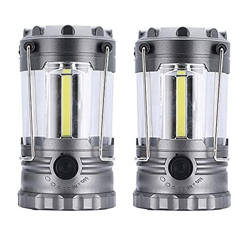 Buyup Luces LED para camping, luces de camping a pilas, portátil, multifunción, luz de camping (2 plata)