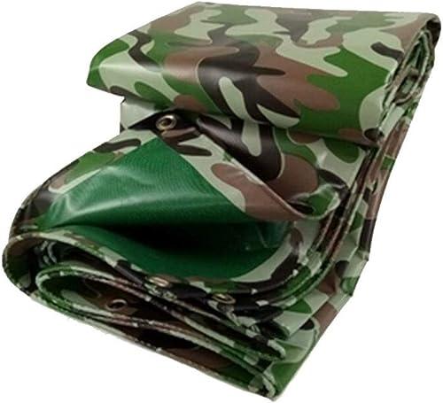 XJRHB Toile de bache de camouflage toile imperméable à la pluie couteau de camouflage jungle raclage toile pare-pluie anti-poussière écran solaire (Taille   4.8 x 9.8 m)