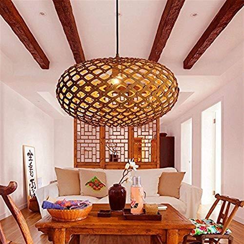 MOZUSA el Norte de Europa Lámparas Colgantes de Madera del Arte de la Jaula de la lámpara, lámpara casera Creativa Restaurante Lámparas, 65 * 30cm (Color : 50 * 23cm)