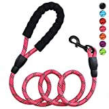 HEAVY DUTY: Petmegoo Baby Pink heavy duty dog leash is best for large breed and medium size dog (18~120lbs.) COMFORTABLE FOAM HANDLE: Heavy duty dogs often pulls you, but don't worry the soft padded foam handle will prevent hands burn and will give y...