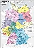 XXL DIN B1 (1000 x 700 mm) Verwaltungskarte Deutschland