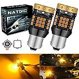 NATGIC 1156 BA15S P21W Bombillas de Luz LED de Señalización Direccional Ámbar 3700LM 3030 45 SMD Canbus sin Errores Anti - Hyper Flash para Luz de Señalización Delantera o Trasera LED (paquete de 2)