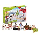 Schleich- Calendario de Adviento 2019, Colección Farm World, Color verde (97873)