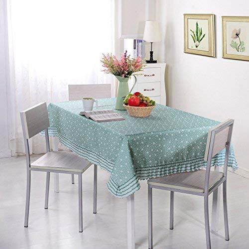 DAKEUR Mantel Impreso Té Mantel Rectangular Impermeable Mantel de jardín 130 * 130cm 星星 草