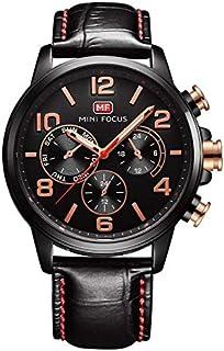 Mini Focus Mens Quartz Watch, Analog Display and Leather Strap - MF0001G.05