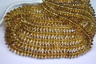 Jewel Beads Natural Beautiful jewellery 8 Inch Strand,Honey Quartz Micro Faceted German Cutting Rondelles 7-9mmCode:- JBB-39381