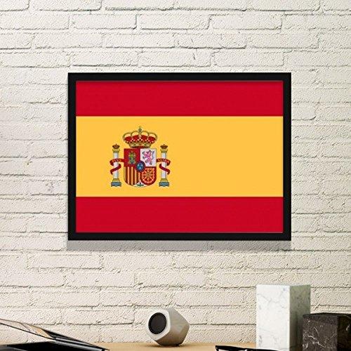 DIYthinker España Nacional a la Bandera Europa País símbolo de Marca de patrón Simple Marco de Fotos de Cuadros de Pinturas casera de la Pared Pequeño Negro