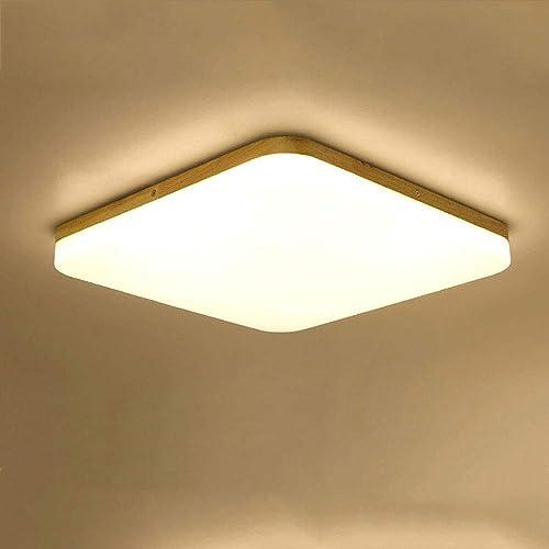 Wandun LED Plafonnier Lampe de Plafond Salle de Bains Cuisine Chambre à Coucher Plafonniers de Bureau Couloir Lampe de Plafond Moderne voitureré Eclairage de Plafond Blanc 7000K [Classe énergétique A++]
