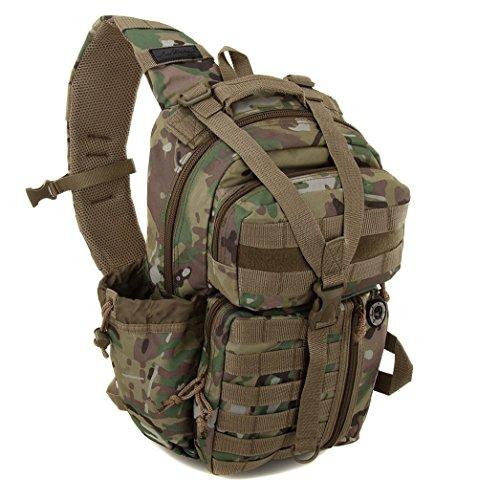Nexpak Tactical Messenger Sling Bag Outdoor Camping Hiking Travel Backpack TL318-MLTCM Multi Camo Green