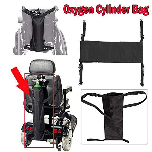 Dioche - Bolsa de agua para silla de ruedas con hombros ajustables, soporte para botella de agua para cualquier silla de ruedas