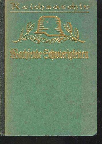 von bose wachsende Schwierigkeiten Schlachten des Weltkrieges, Reichsarchiv grüner goldgeprägter Einband, 191 Seiten, bilder, karten, 1. Weltkrieg, gering fleckig