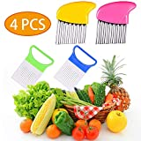 Crinkle Cut Knife set, 2 Fork Slicing Helper 2 Stainless Steel Crinkle Cutter, Fruit And Vegetable...