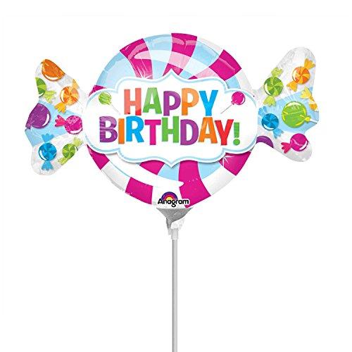 Foil Minishape Sweet Shop Birthday-Si GONFIA AD Aria, meerkleurig, 7A3262202