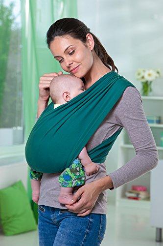 AMAZONAS Babytrage CarryBaby Petrol Bauchtrage 2 Schlaufen stressfrei ohne Knoten 4 Monate – 3 Jahre bis 15 kg - 2