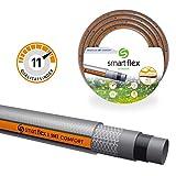Smartflex Gartenschlauch Wasserschlauch SMT Comfort 5 lagig Schlauch Bewässerungsschlauch *Grau/Orange (25 Meter - 3/4' (19 mm))